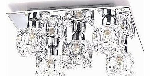 Modern Chrome Ice Cube 3 Way Ip44 Bathroom Ceiling Light: Ice Cubes 4 Light Ceiling Light
